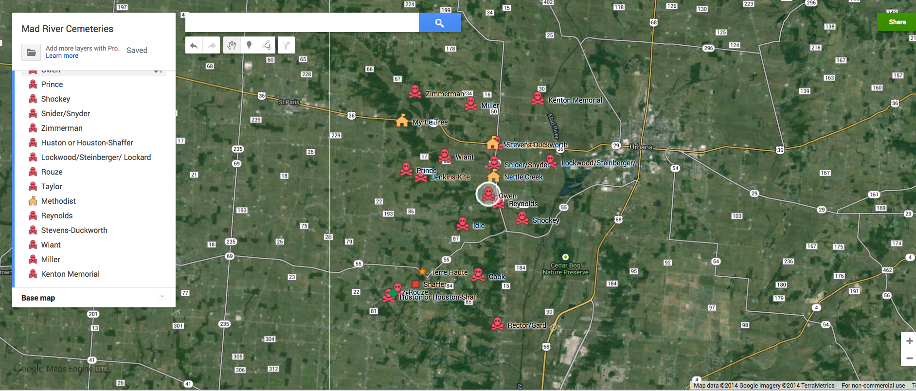 Mad River Cemeteries Google Maps final draft