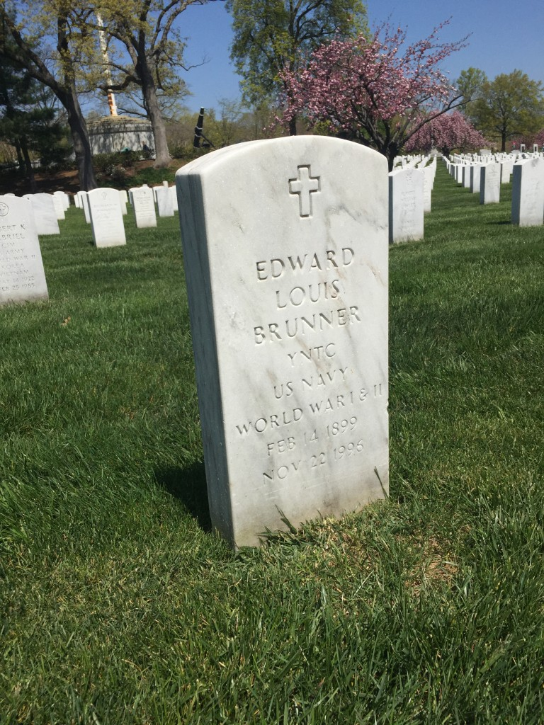 Edward L Brunner, Arlington National Cemetery
